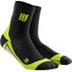 cep Short Running Socks Men green/black